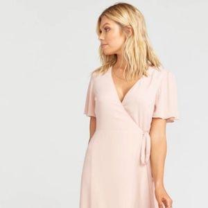 Noelle Flutter Wrap Dress